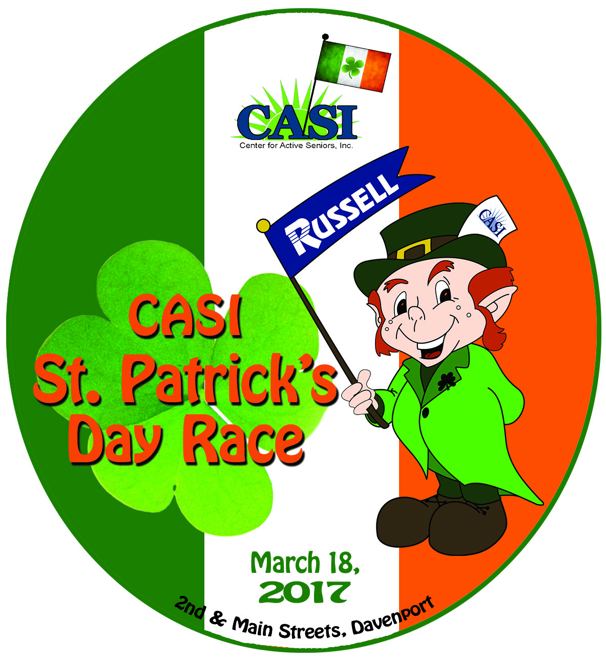 CASI's 35th Annual St. Patrick's Day Race logo
