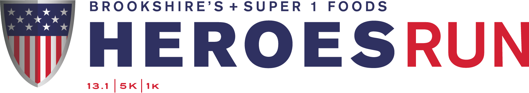 Brookshire's + Super 1 Foods Heroes Run logo