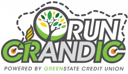 RUN CRANDIC Volunteer powered by Green State Credit Union logo