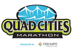 2017 Quad Cities Marathon Volunteer logo