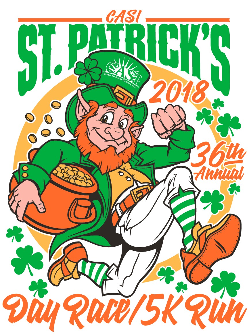 CASI's 36th Annual St. Patrick's Day Race logo