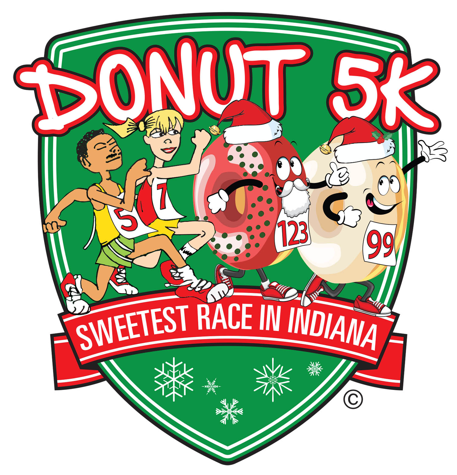 Donut 5K Holiday Run/Walk - 11th Annual logo