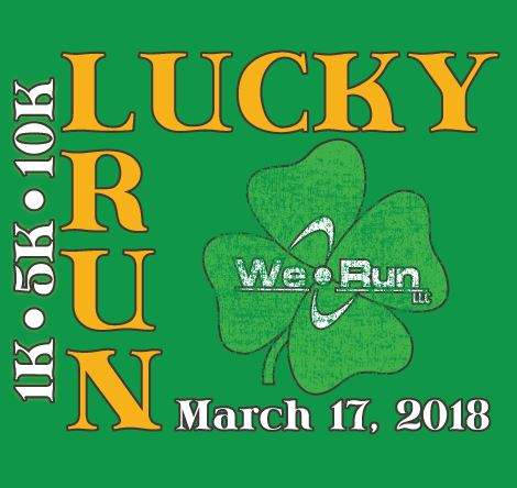 We Run LUCKY RUN Volunteer logo