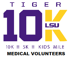 TIGER 10K, 5K & Kids Run MEDICAL VOLUNTEERS logo